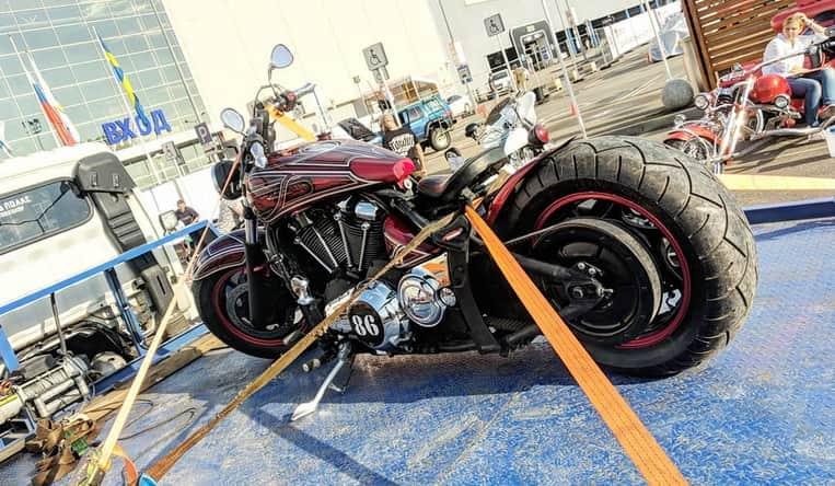 Перевозка мотоциклов на выставку в Крансодаре