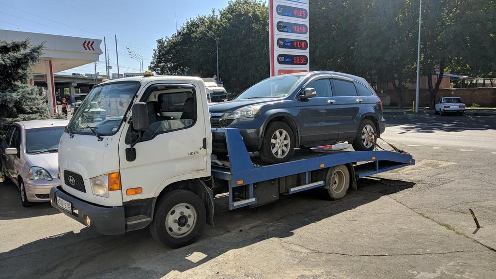Эвакуация паркетника Honda CR-V в Краснодар